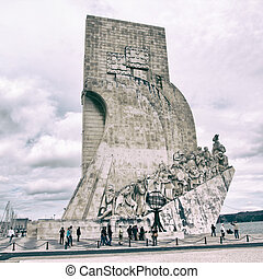 Lisbon Monument - The Monument to the Discoveries in Lisbon,...