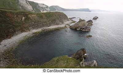Mupe Bayrocks near Lulworth Cove - Mupe Bay rocks and...