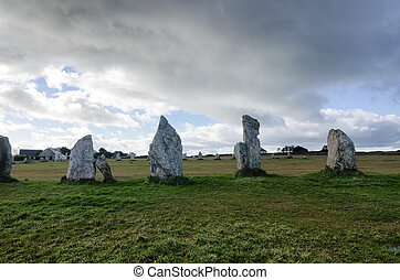 Menhir in France - French destination, menhirs in Brittany,...