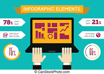 Technology Infographic Element - Technology Flat Infographic...