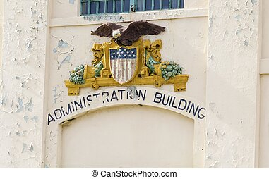 Alcatraz Administration Building, San Francisco, California...