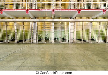 Alcatraz Cellhouse, San Francisco, California - The jail...