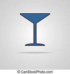Martini glass icon Vector illustration - Martini glass icon...