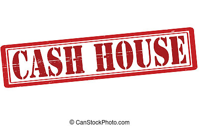 Cash house - Stamp with text cash house inside, vector...