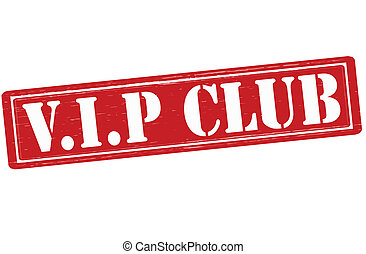 VIP club - Stamp with text VIP club inside, vector...