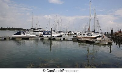 Lymington marina Hampshire England - Lymington Hampshire...