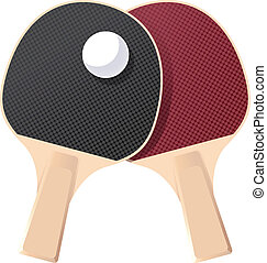 Table tennis - Vector image of a pair of Table tennis