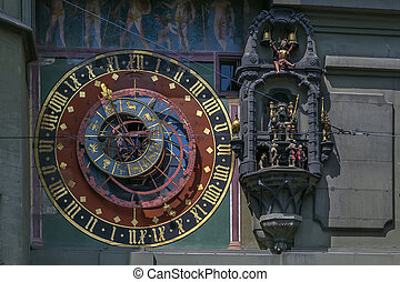 Astronomical clock, Bern - The dial of the Zytglogges...