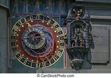 astronômico, relógio, Berna