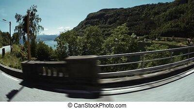 Scenic Drive, Hardanger Fjord - 4K, Scenic Drive, Panoramic...