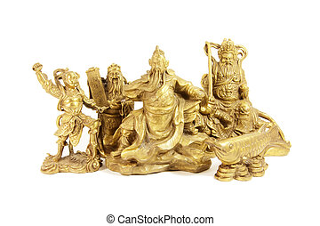 Chinese Deities and Gods in Brass Statues