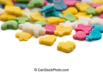 Confeti, pizca, dulce, colorido