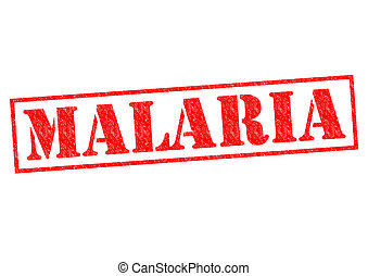 MALARIA red Rubber Stamp over a white background