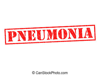 PNEUMONIA red Rubber Stamp over a white background.