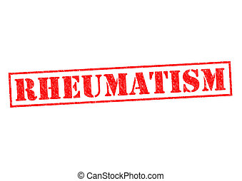 RHEUMATISM red Rubber Stamp over a white background