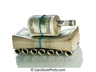 Tank made of money