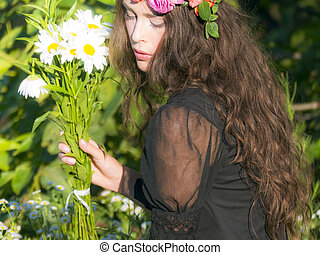 portrait in flowers