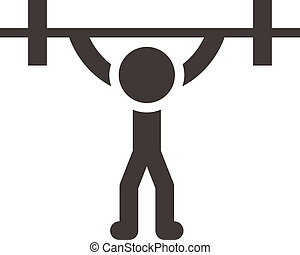 Weightlifting icon - Summer sports icons - weightlifting...