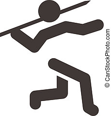 Javelin throw icon - Summer sports icons set - Javelin throw...