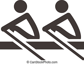 Rowing icon - Summer sports icons set -  rowing icon