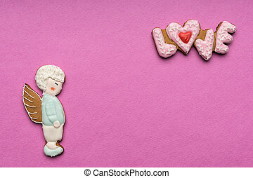 Cookies with the text of love