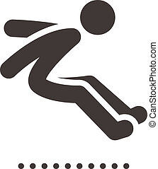 long jump icon - Summer sports icons - long jump icon