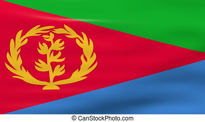 Waving Eritrea Flag, ready for seamless loop