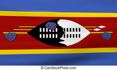 Waving Swaziland Flag, ready for seamless loop.