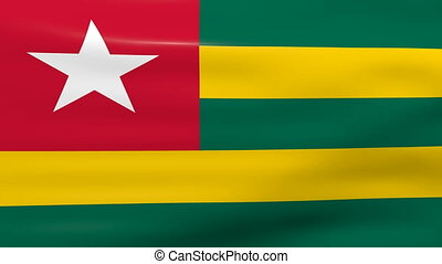 Waving Togo Flag