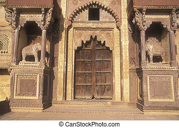 Entrance To Rajput Palace - Entrance to Jahangir Mahal, a...