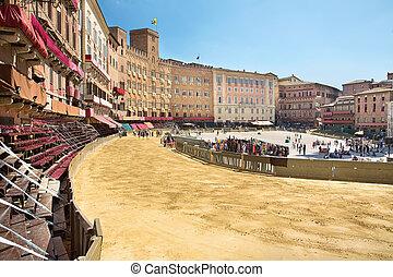 Piazza del Campo Siena,Tuscany,Italy