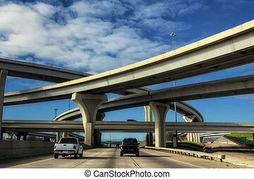 Interstate Overpass - Traveling on the interstate going...