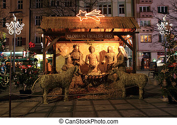 old bethlehem as traditional christmas background from...