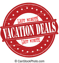 Vacation deals - Stamp with text vacation deals inside,...