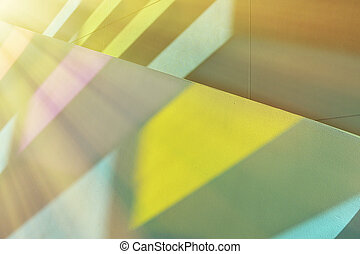 Stained glass window light - Sunshine stream through stained...