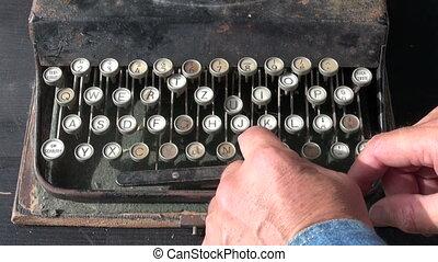 ancient typewriter keyboard - looking ancient typewriter...