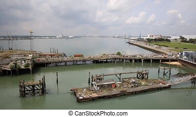View of Southampton Docks UK - View of Southampton Docks...
