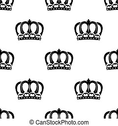 Seamless pattern of royal crowns - Ornate heraldic seamless...