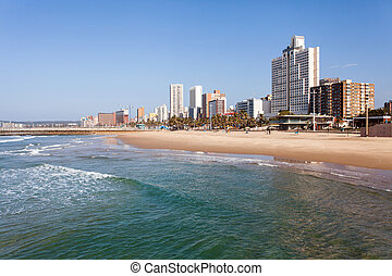 beachfront of Durban, South Africa - beautiful beachfront of...