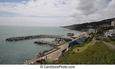 Ventnor harbour Isle of Wight - Ventnor Isle of Wight south...