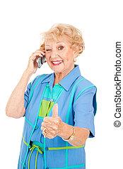 3º edad, Teléfono celular, usuario, -, bueno,...