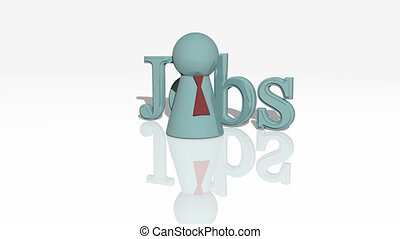 Jobs concept animation - Employment conceptual animation