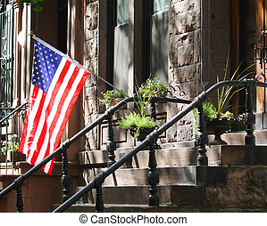 All American Brownstone - A New York City brownstone...