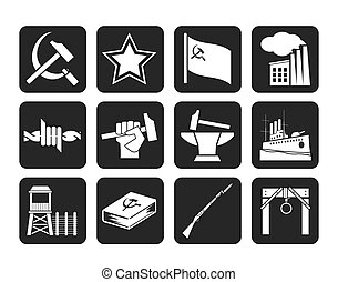Communism and socialism icons - Silhouette Communism,...