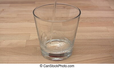 Glass of Sparkling Water - Canon HV30. HD 16:9 1920 x 1080 @...