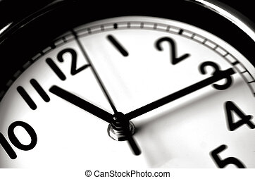 Time passing - Wall Clock - Time passing over the face of...