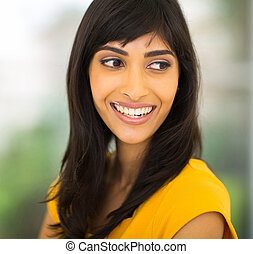 indian woman smiling