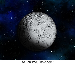 Night sky with fictional moon - 3D Background illustration...