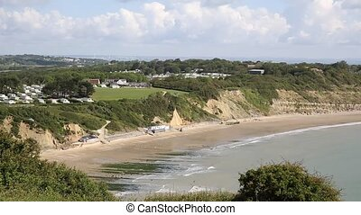 Whitecliff Bay beach Isle of Wight - Whitecliff Bay Isle of...