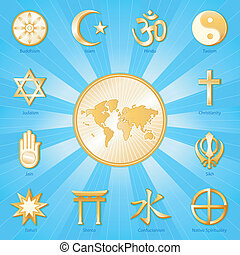 World of Faith, International - Gold symbols of 12...